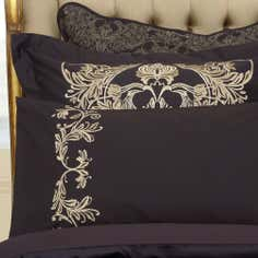 Dorma Black Mayfair Collection Cuffed Pillowcase