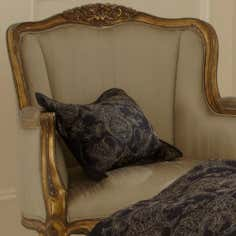 Dorma Black Mayfair Collection Boudoir Cushion