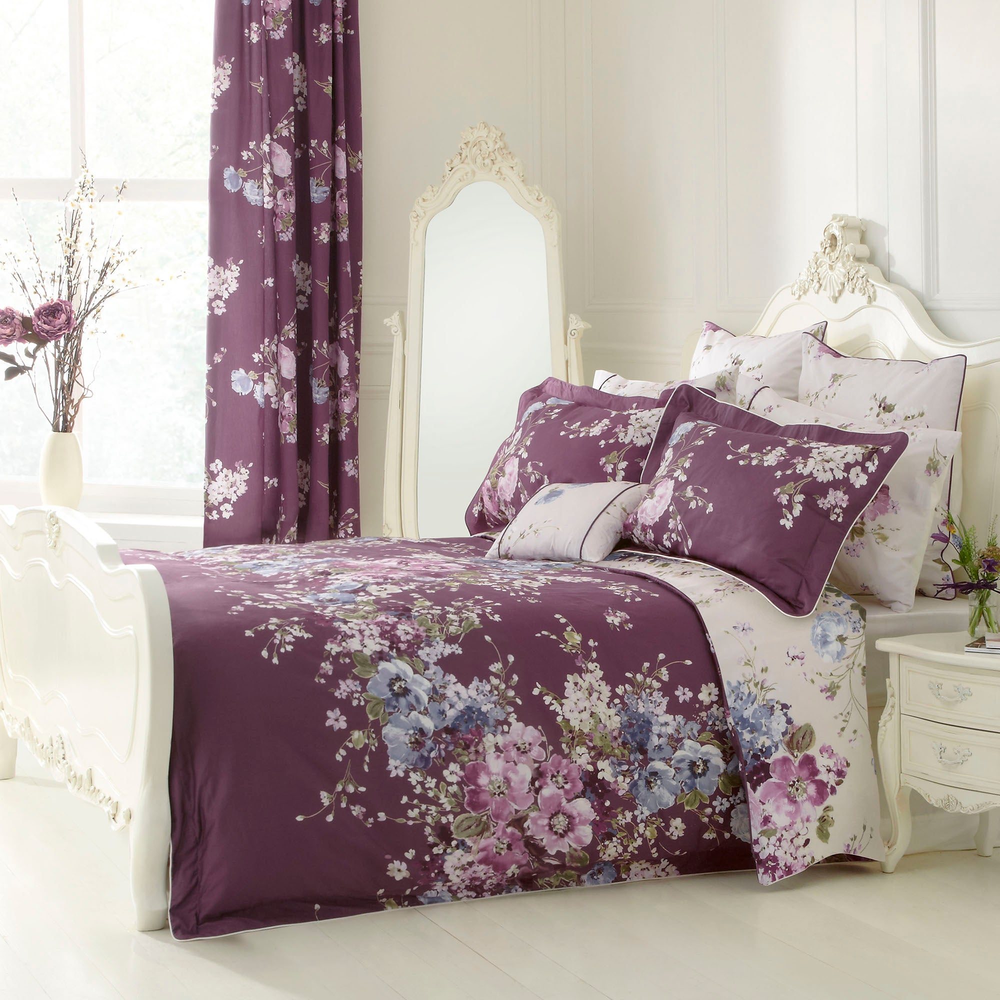 Dorma Purple Florence Collection Duvet Cover