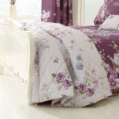 Dorma Purple Florence Collection Bedspread