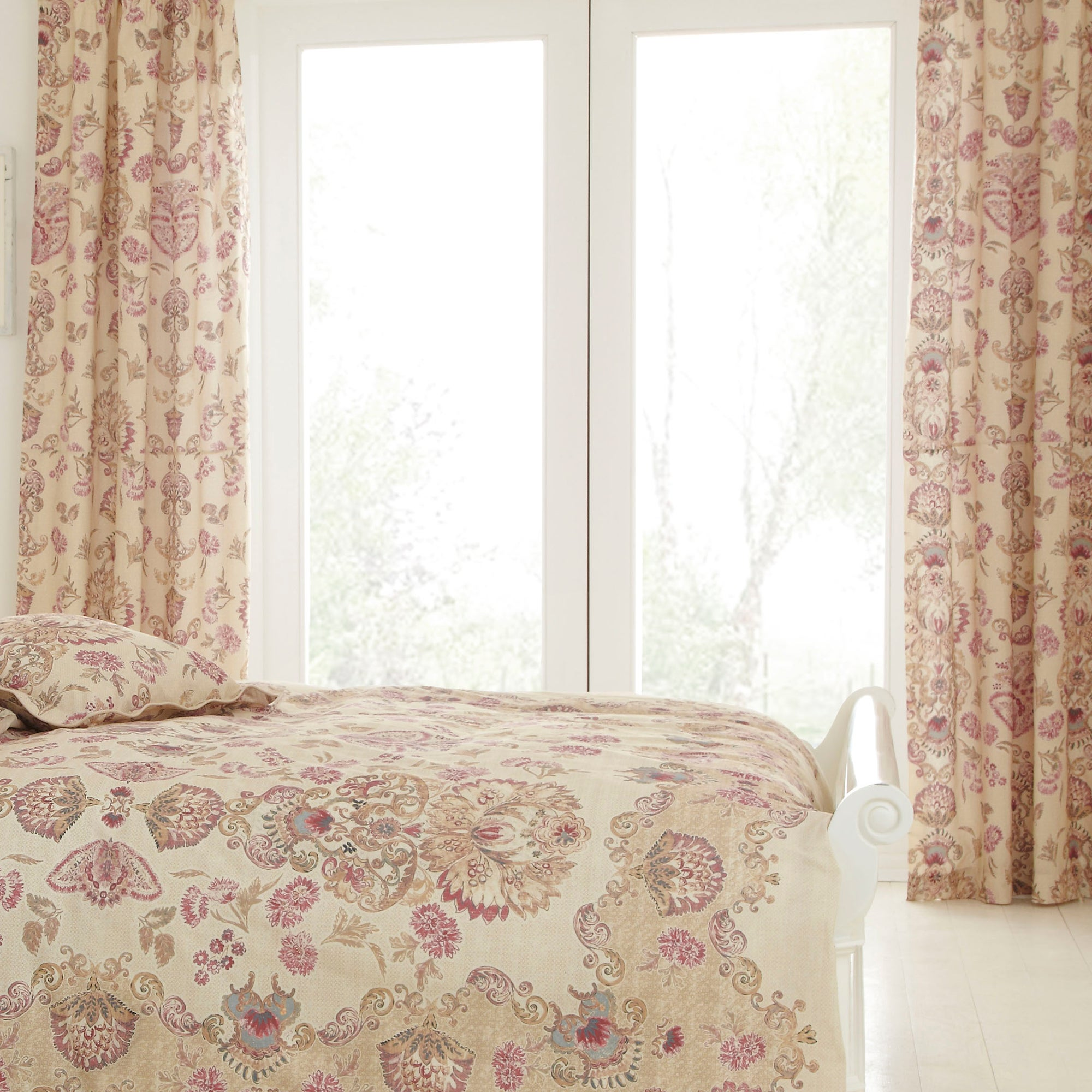 Dorma Plum Marseille Lined Pencil Pleat Curtains