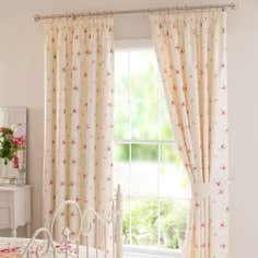 Pink Darcy Thermal Pencil Pleat Curtains