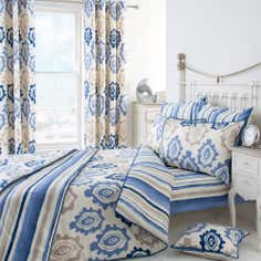 Blue Ikat Collection Duvet Cover Set