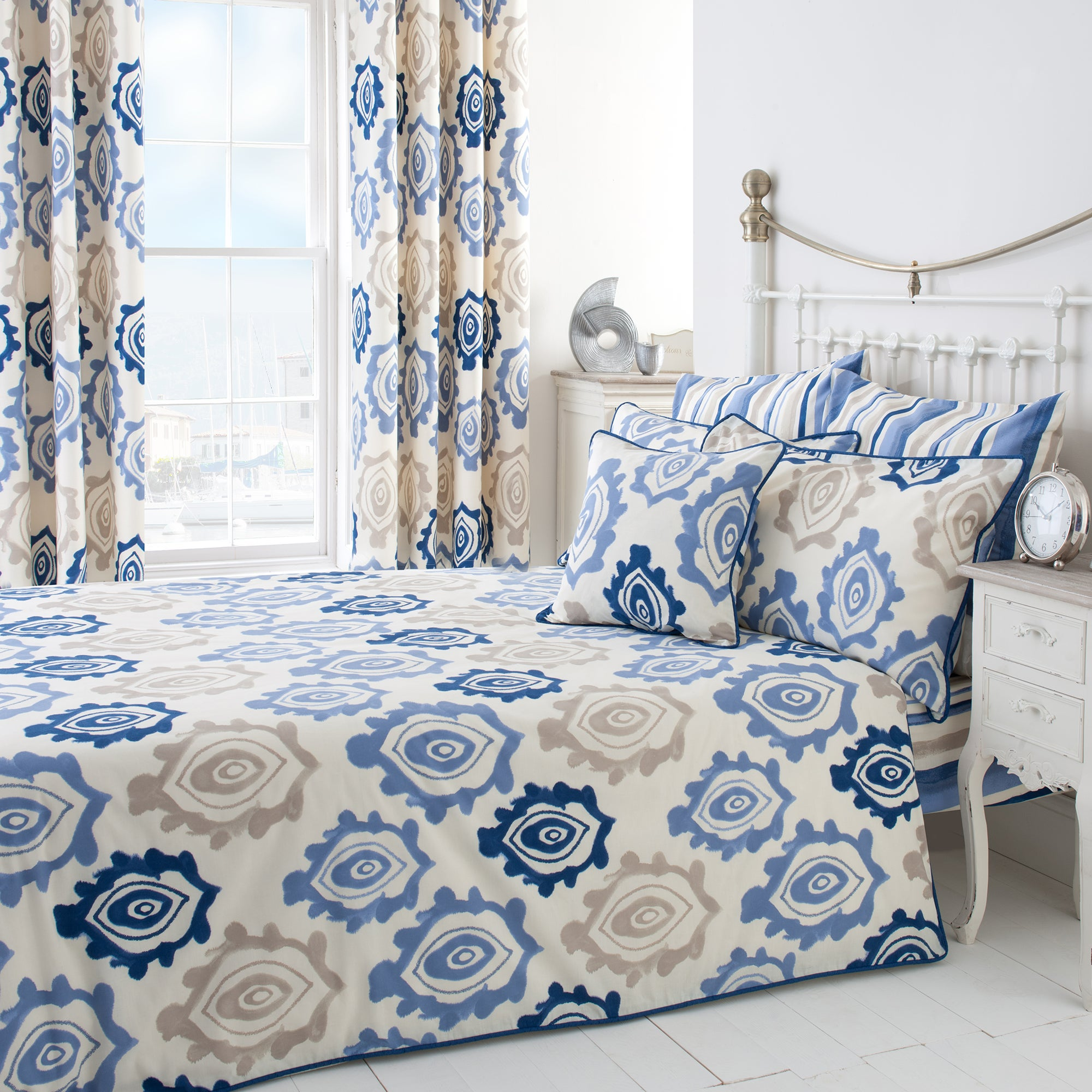 Blue Ikat Collection Bedspread