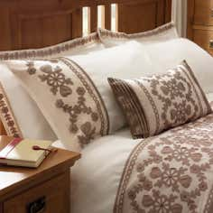 Latte Arabella Collection Housewife Pillowcase