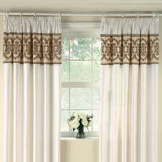 Latte Arabella Thermal Pencil Pleat Curtains