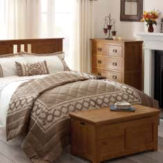 Latte Arabella Collection Bedspread