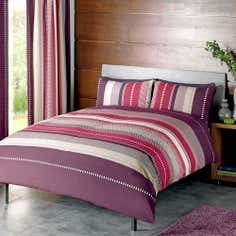 Plum Cologne Collection Duvet Cover Set