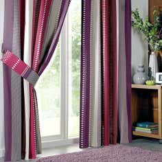 Plum Cologne Pencil Pleat Curtains