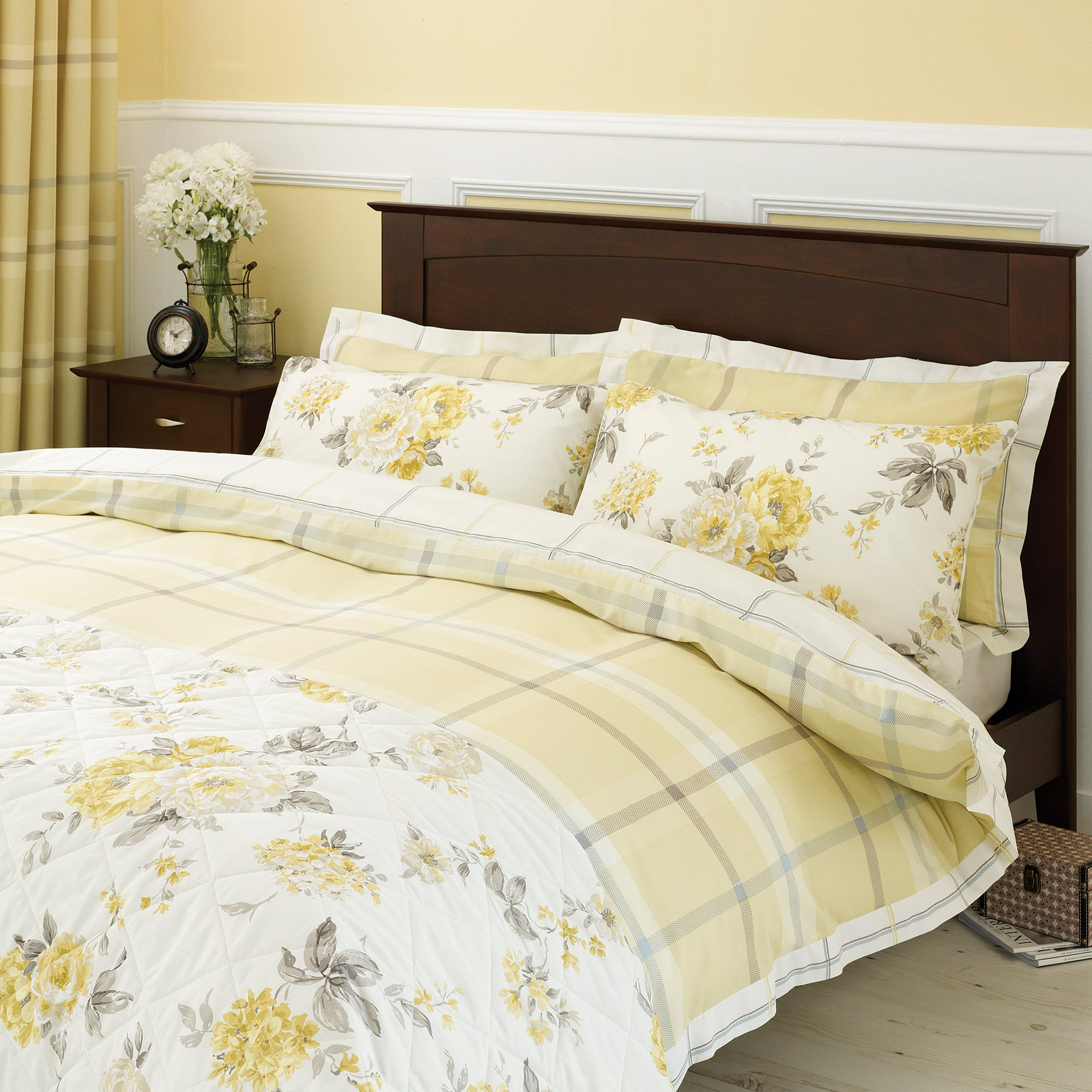 Lemon Colonial Check Bedlinen Collection