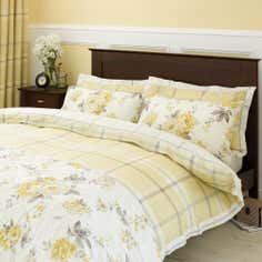 Lemon Colonial Check Collection Duvet Cover