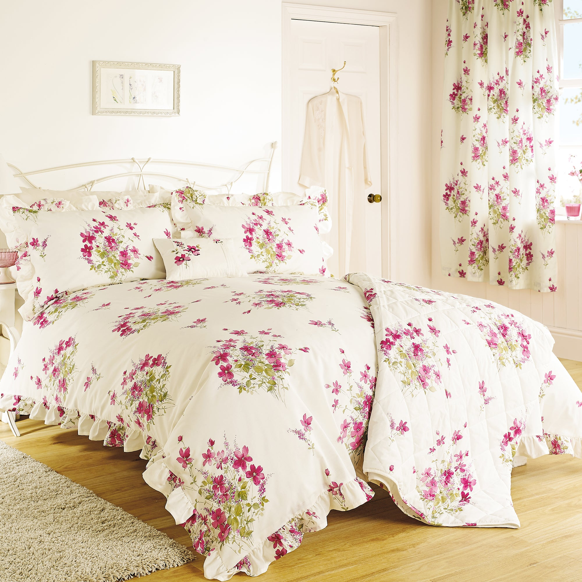 Pink Delphine Collection Duvet Cover Set