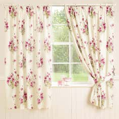 Pink Delphine Thermal Pencil Pleat Curtains