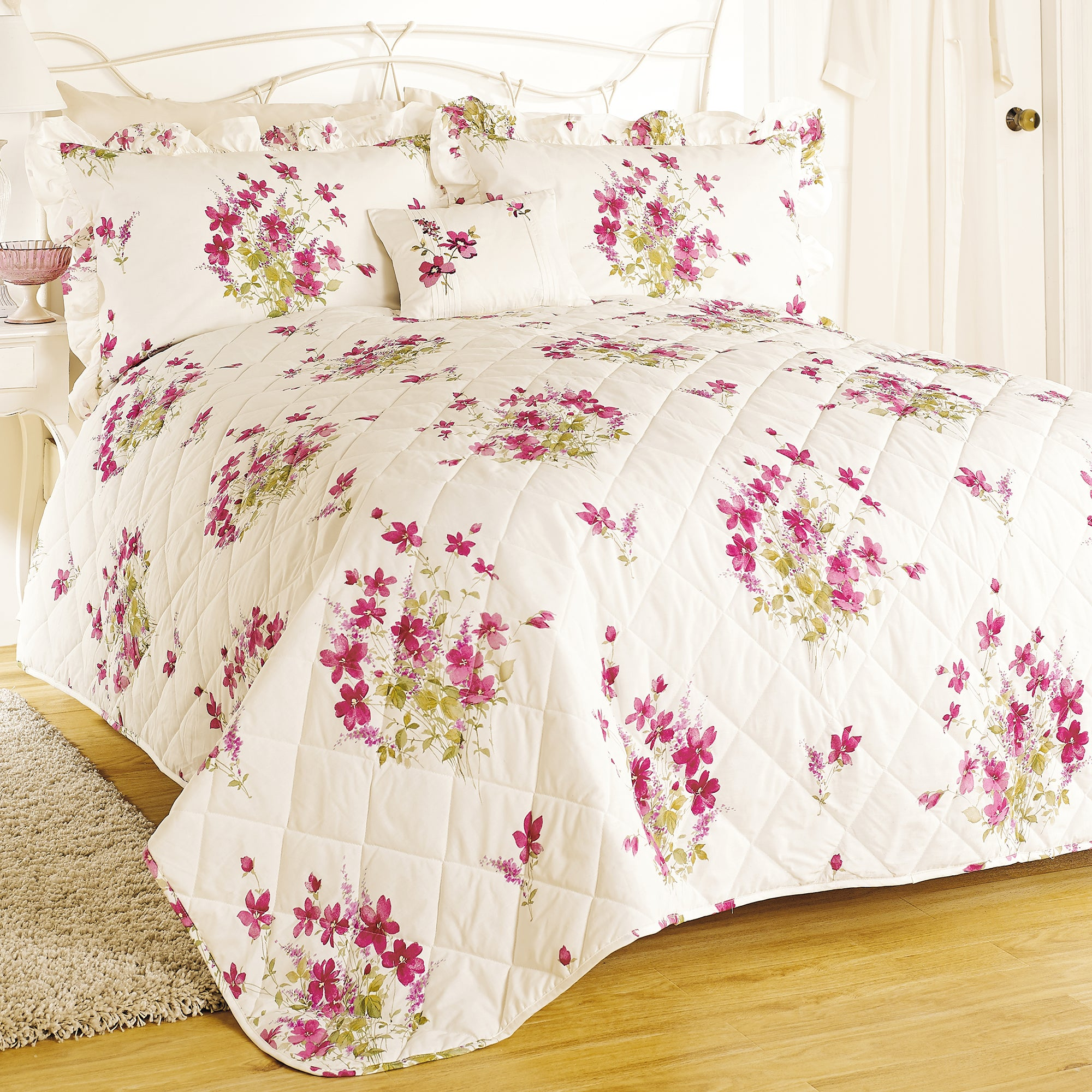 Pink Delphine Collection Bedspread