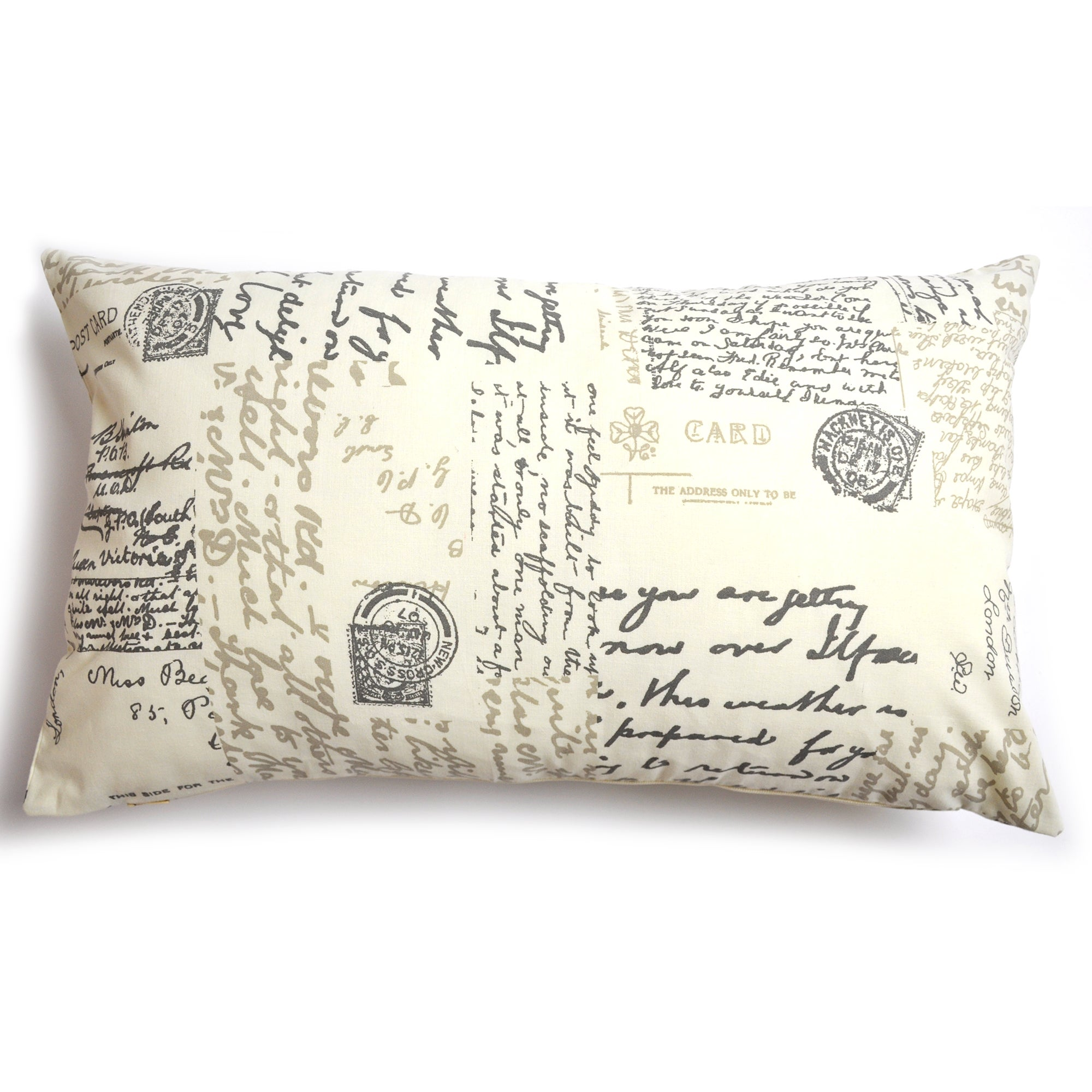 Cream Vintage Paris Collection Boudoir Cushion