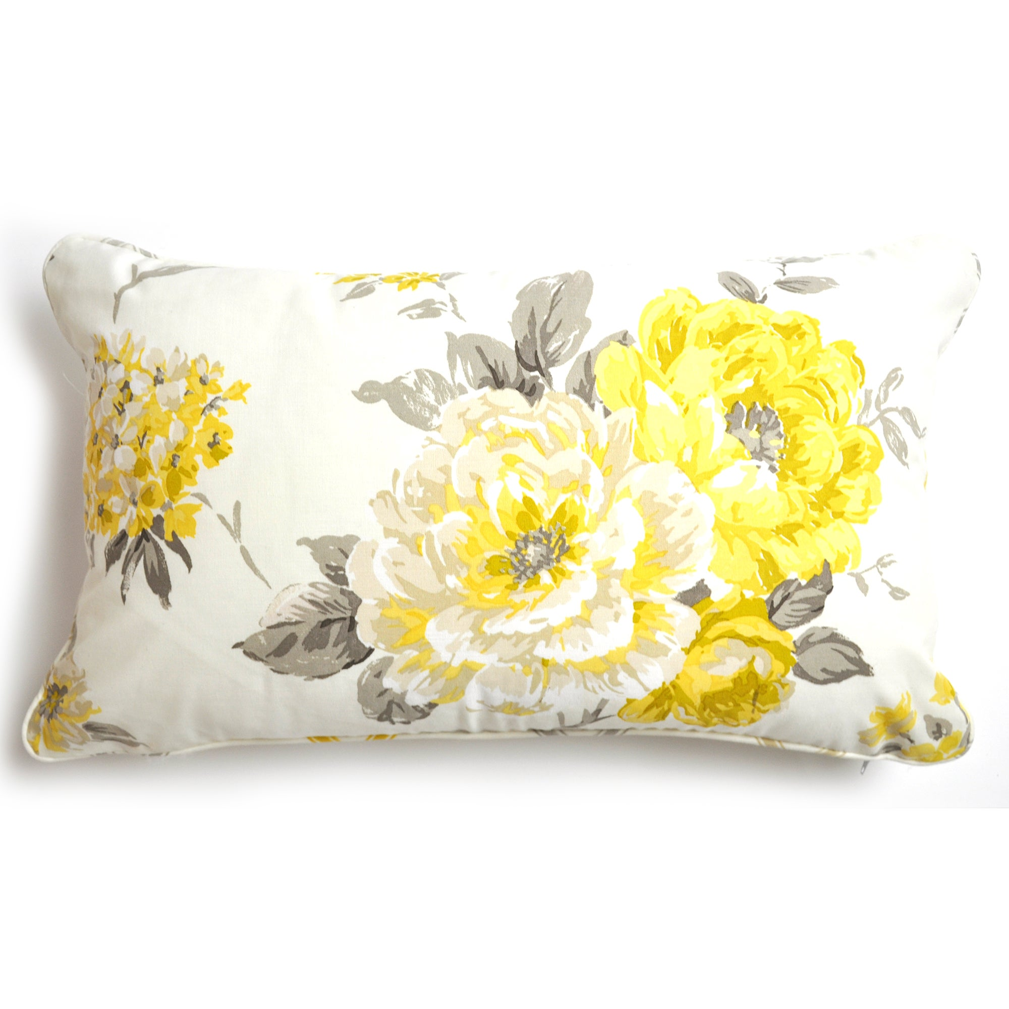 Lemon Windermere Collection Boudoir Cushion