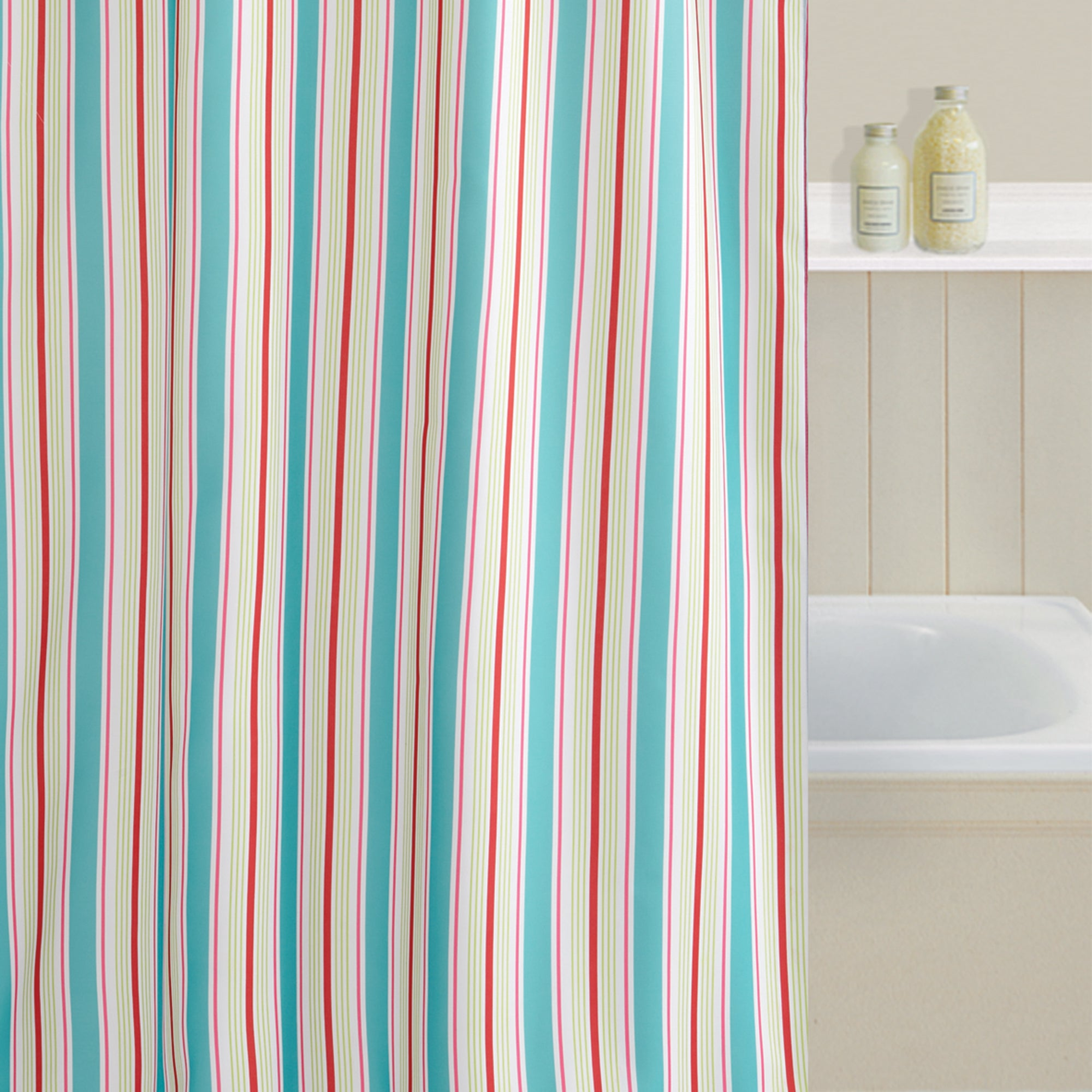 Bright Stripe Shower Curtain