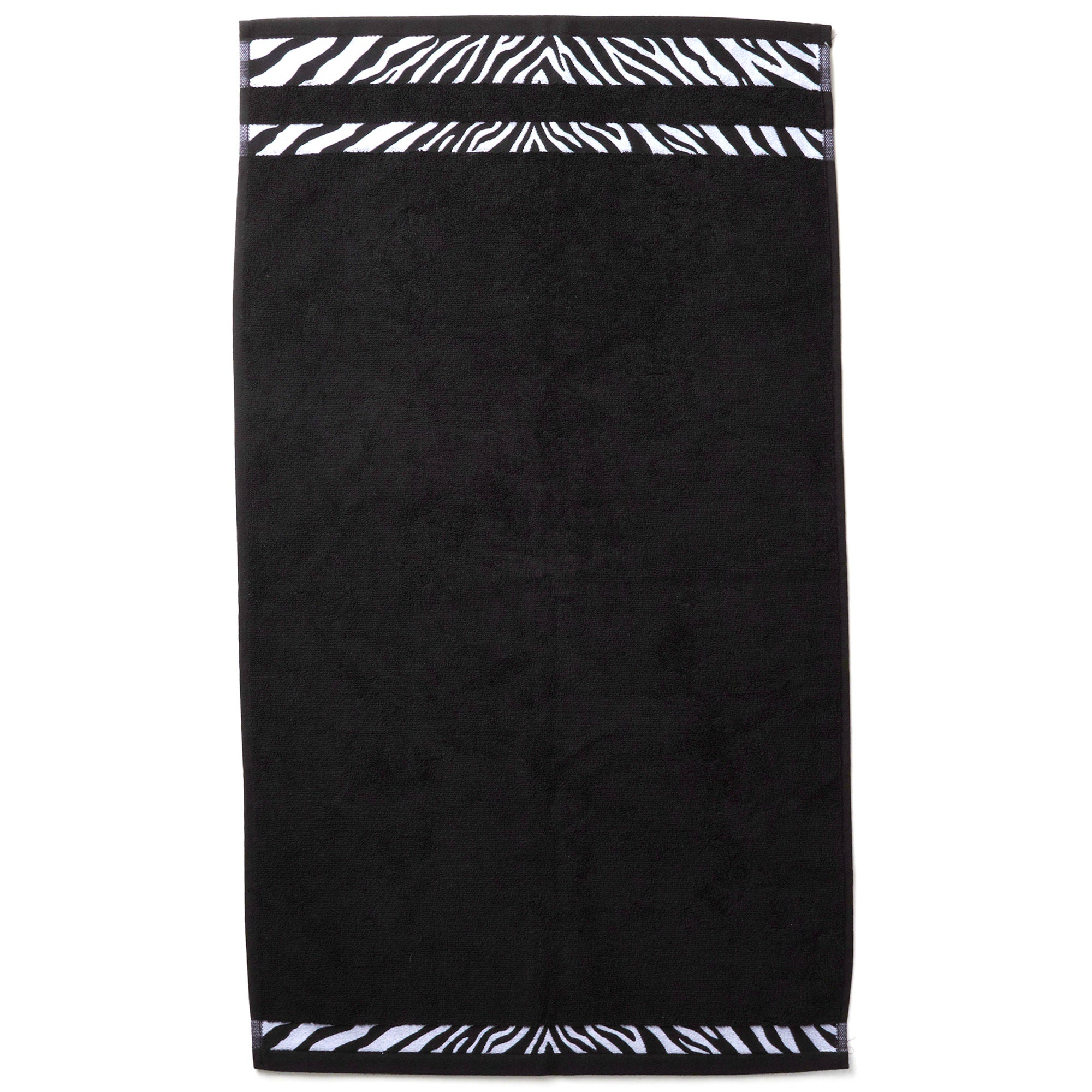 Black Animal Print Hand Towel
