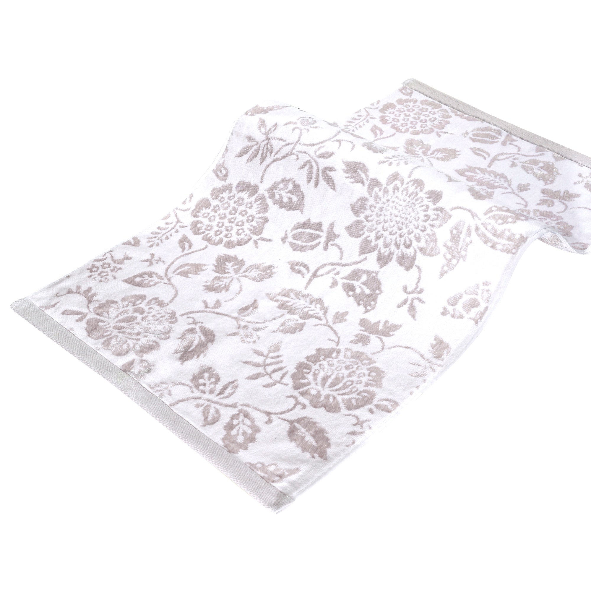 Hotel White Floral Towel