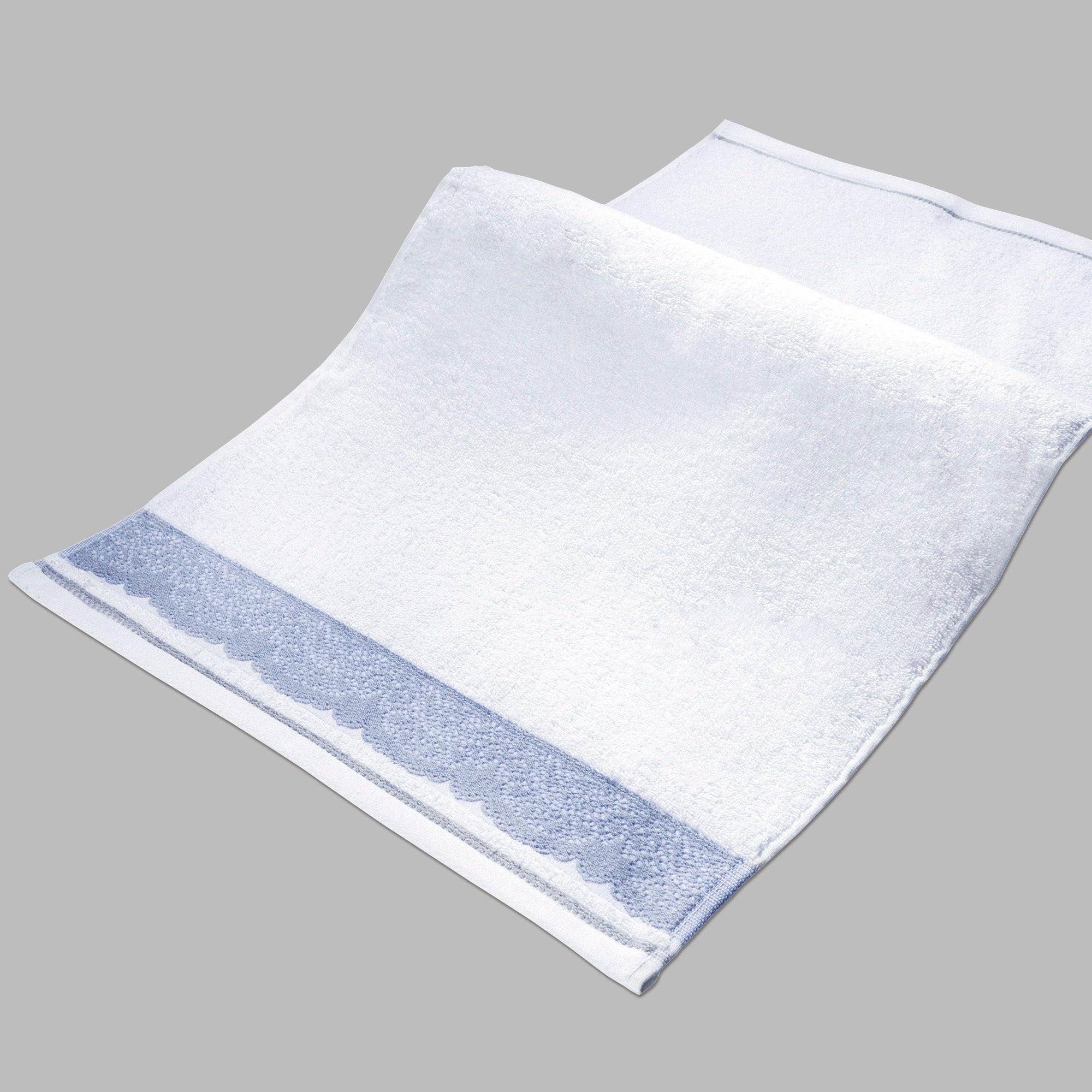 Hotel White Jacquard Lace Towel