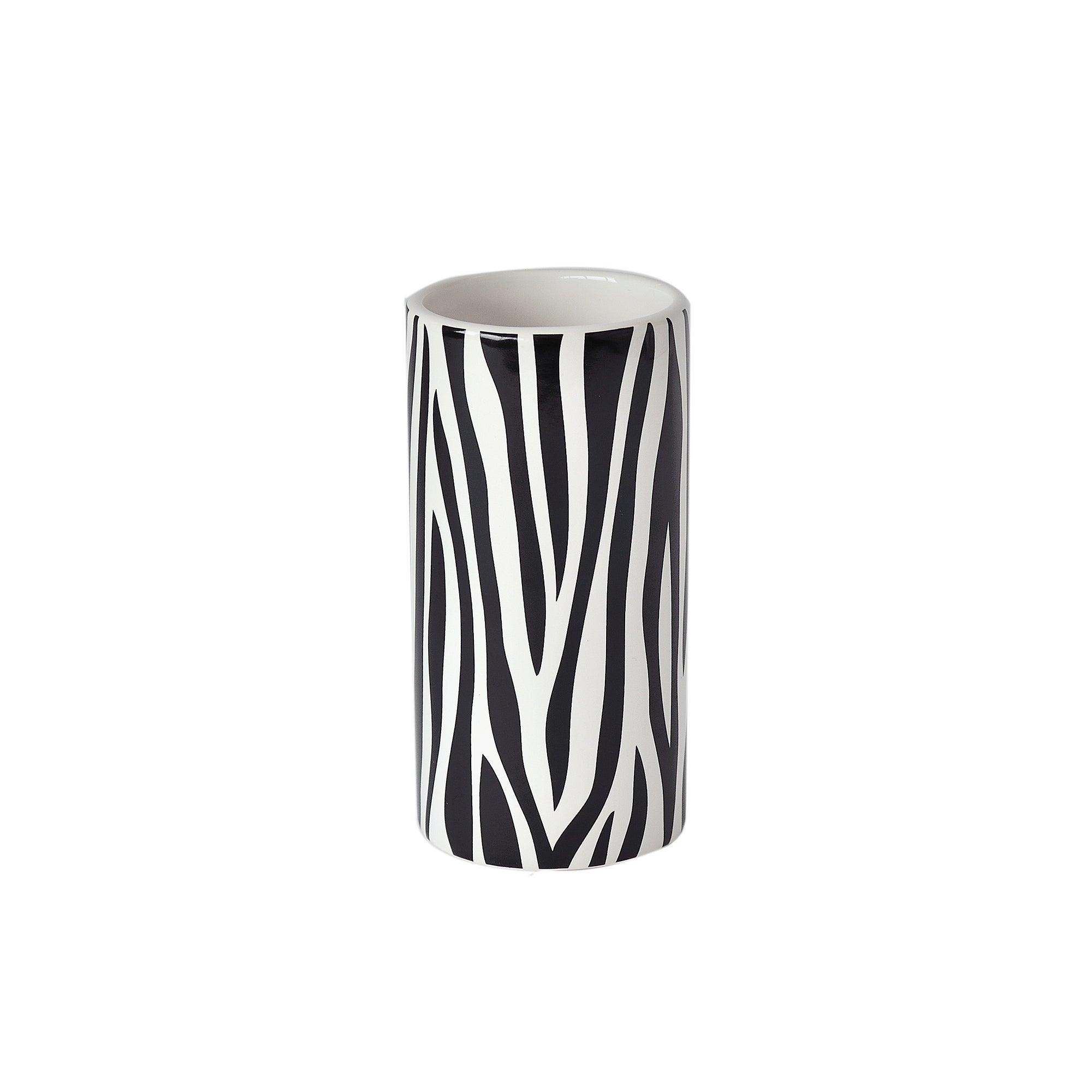 Black and White Zebra Collection Tumbler