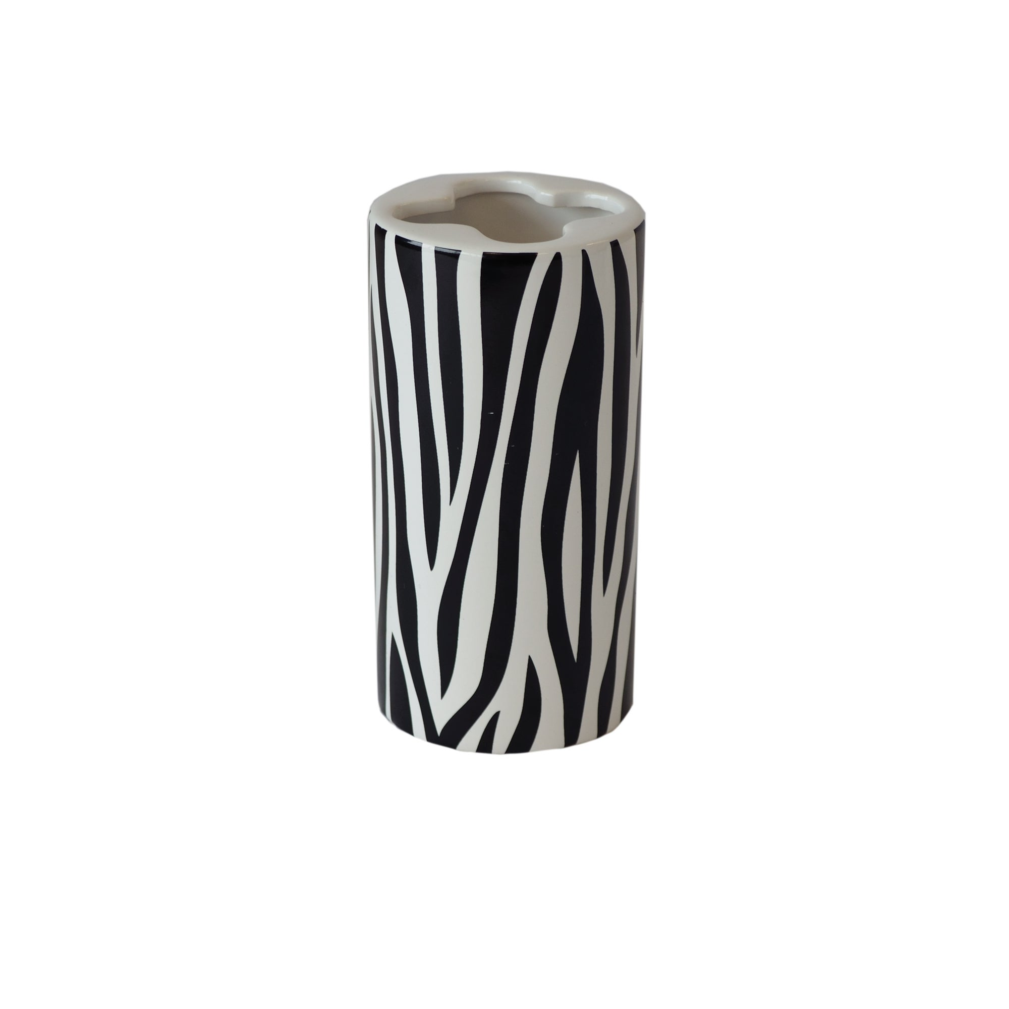 Black and White Zebra Collection Toothbrush Holder