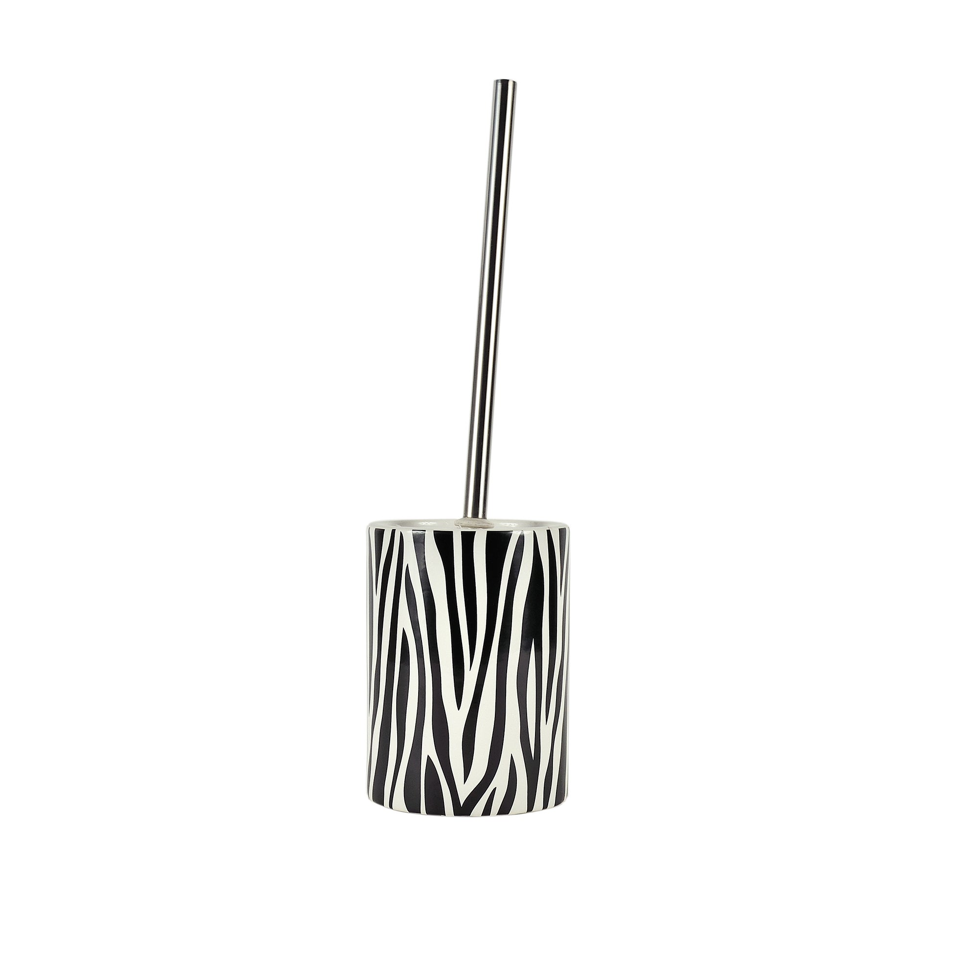 Black and White Zebra Collection Toilet Brush Holder