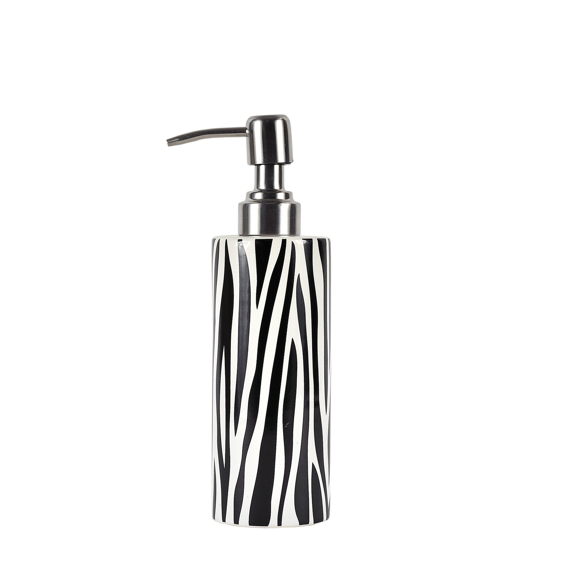 Black and White Zebra Collection Lotion Dispenser