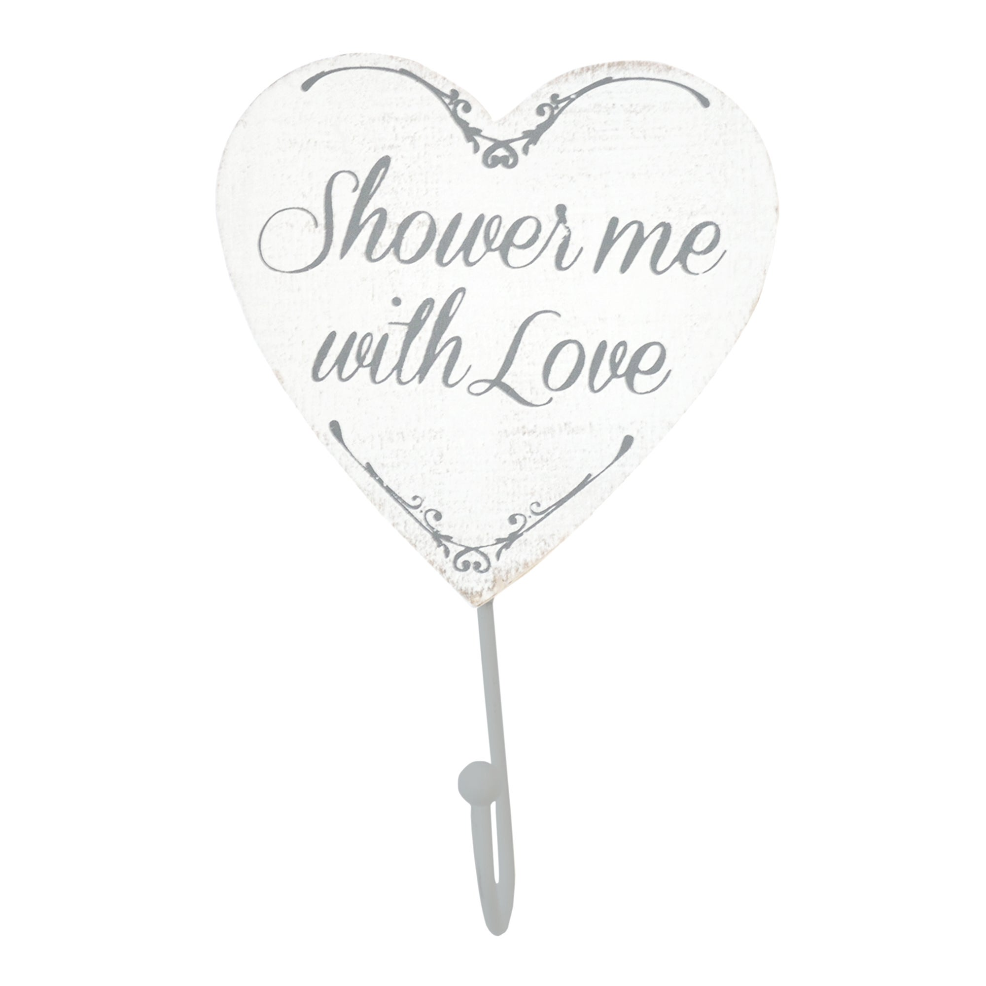 Shower Me With Love Single Wall Hook