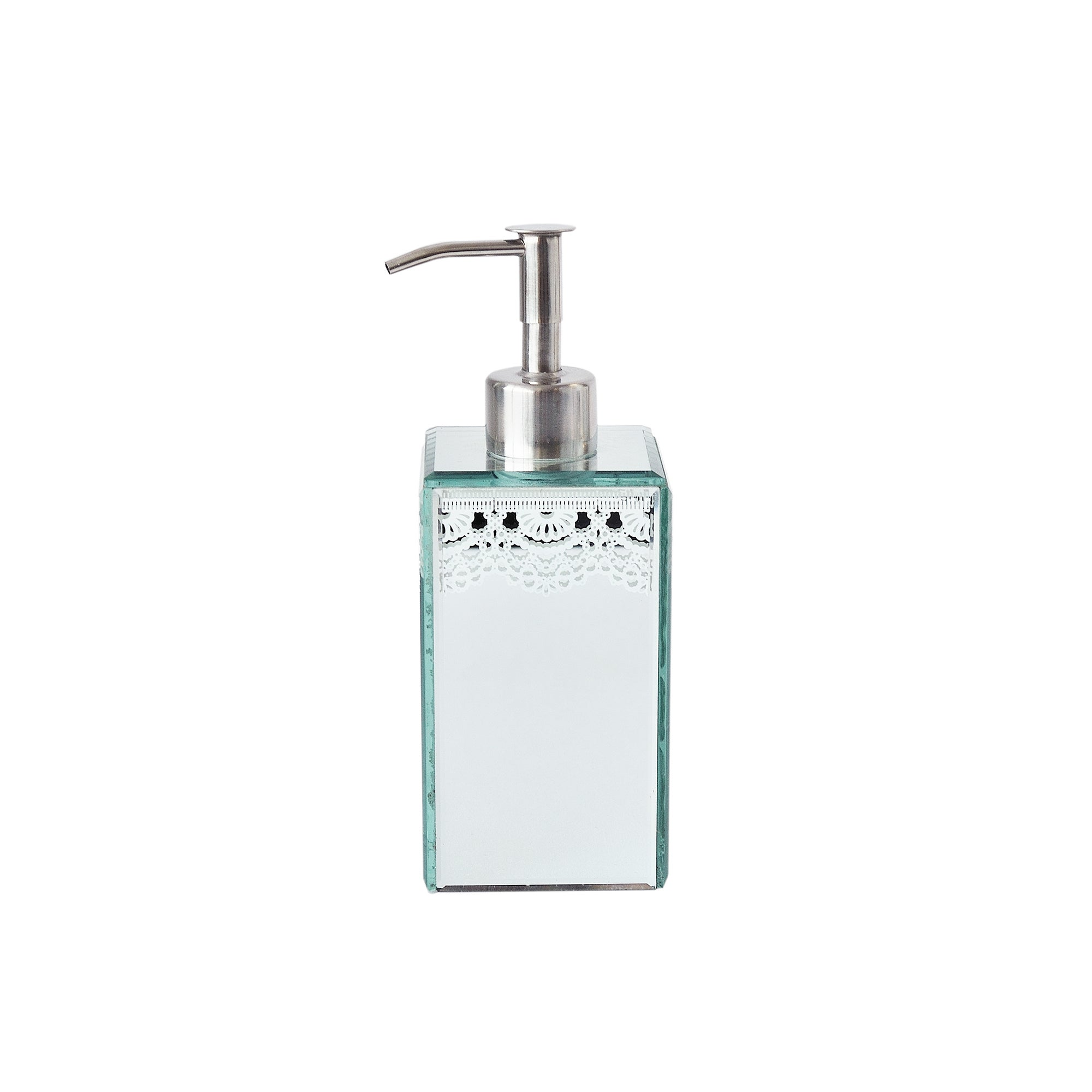 Venetian Mirror White Lace Collection Soap Dispenser