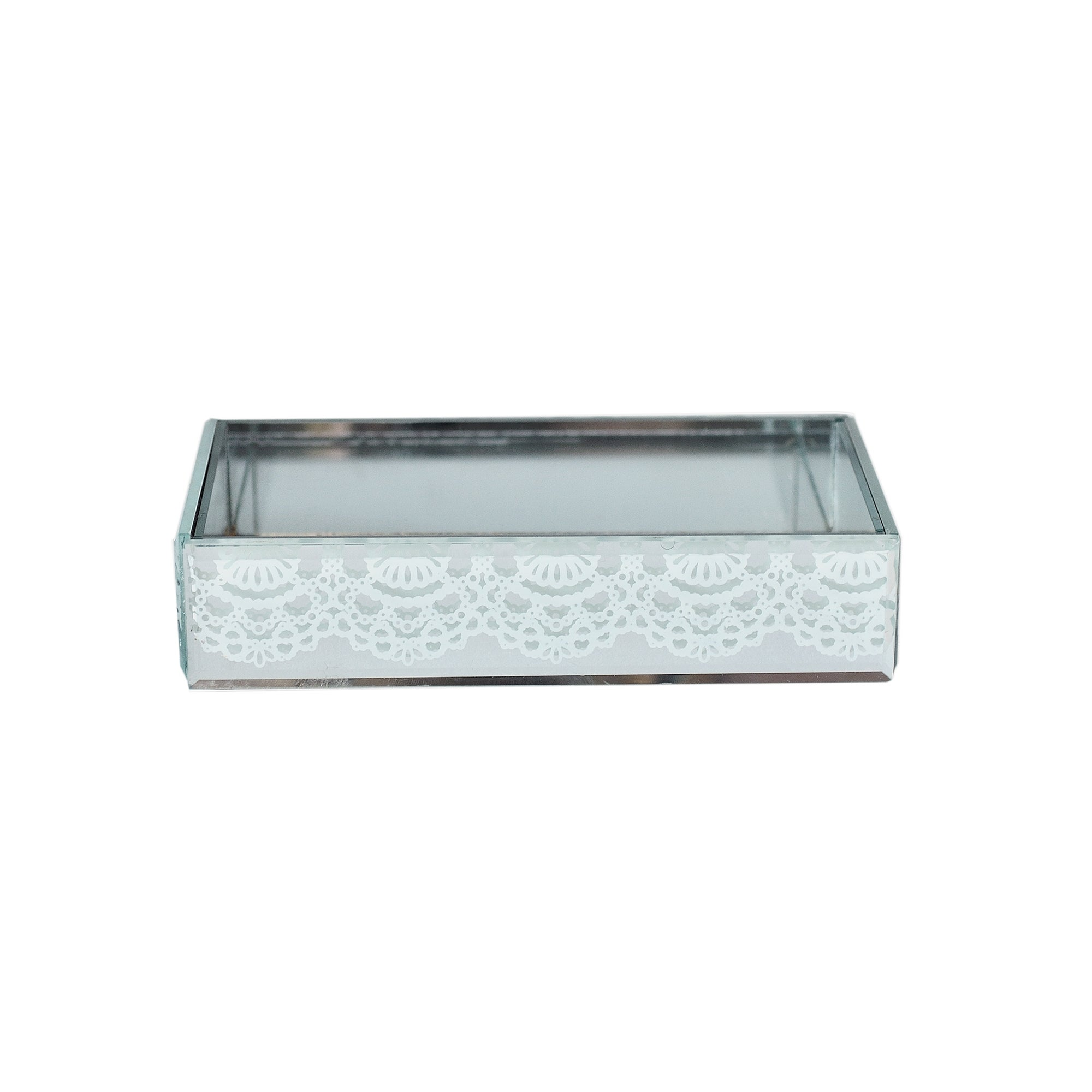 Venetian Mirror White Lace Collection Soap Dish