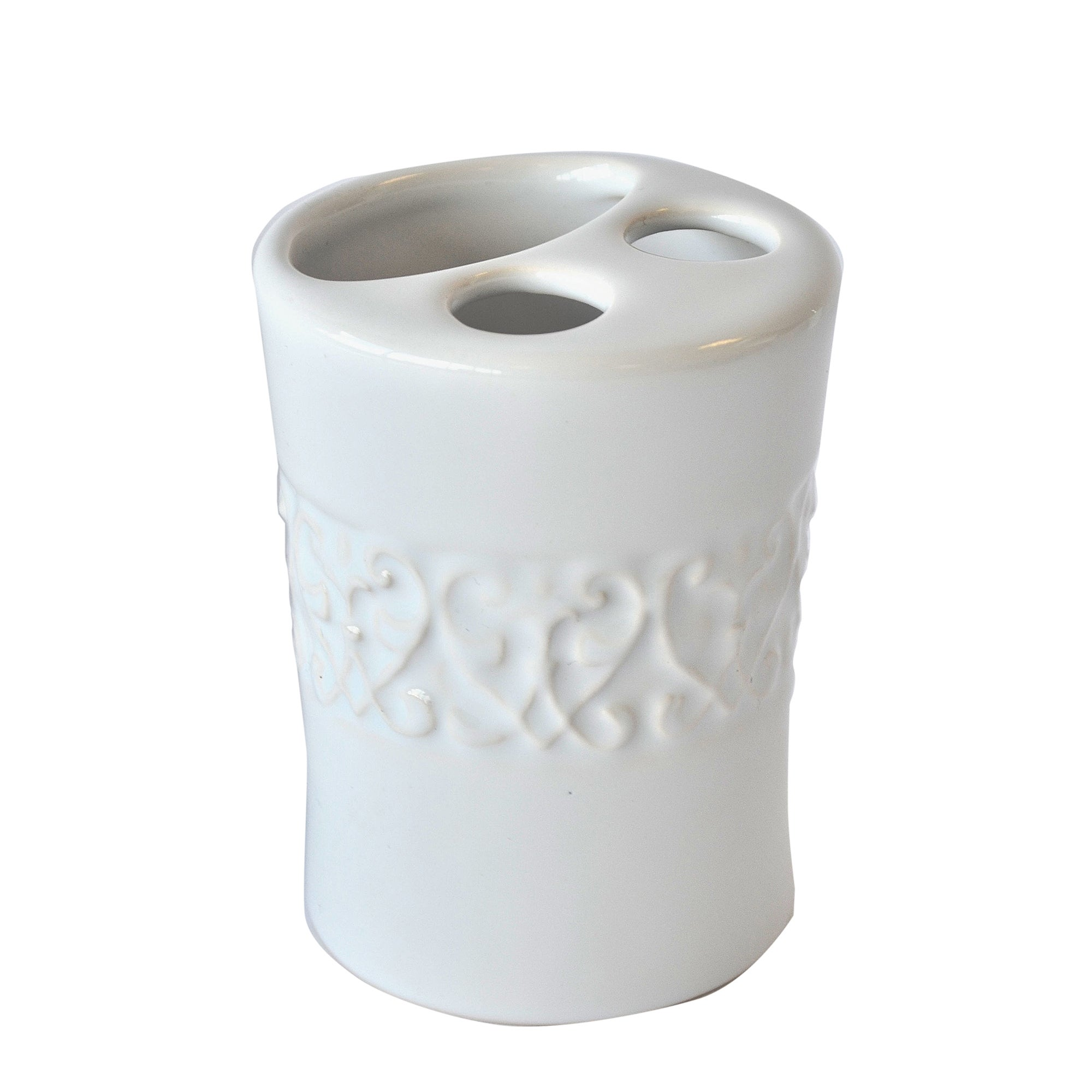 Embossed Swirl Collection Toothbrush Holder