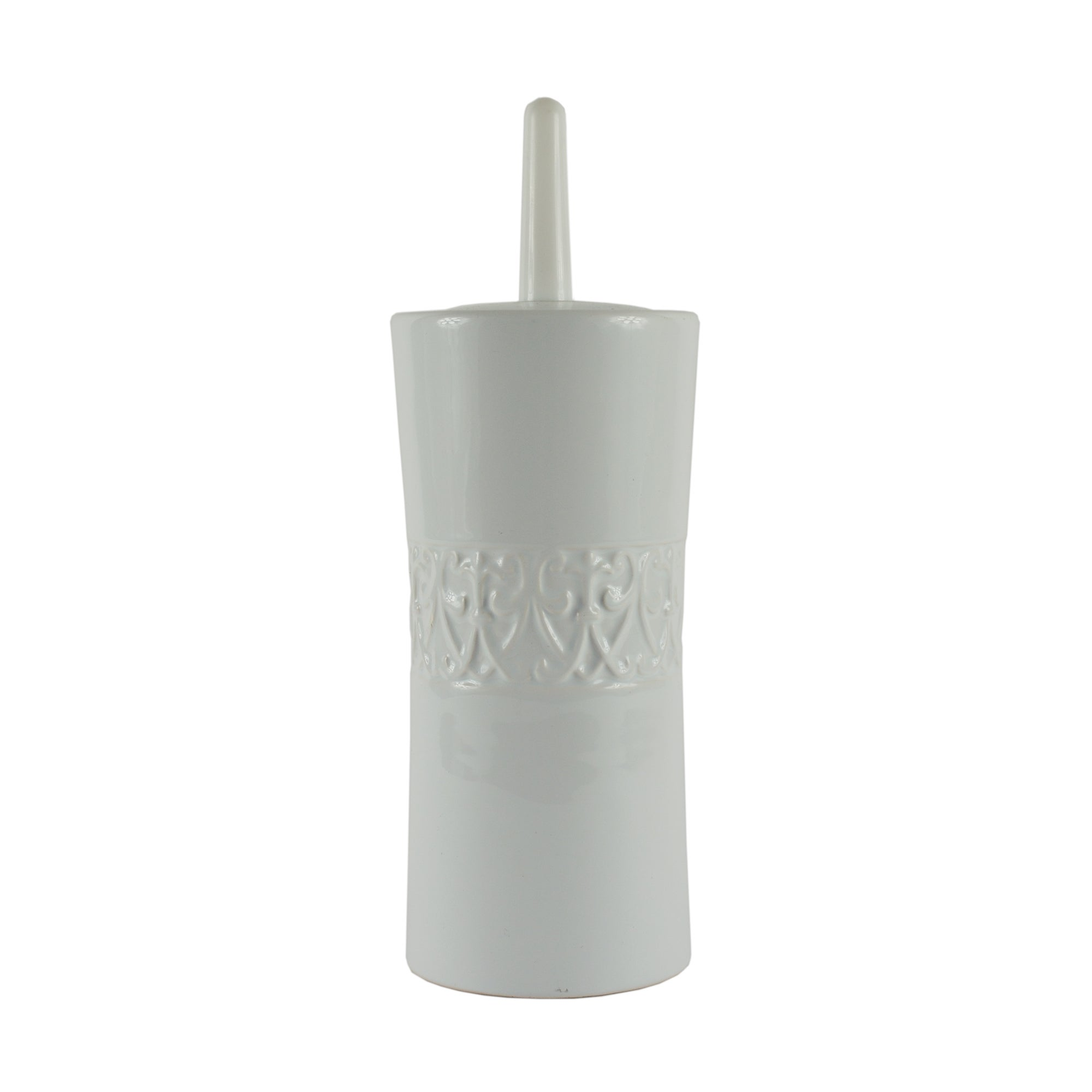 Embossed Swirl Collection Toilet Brush Holder