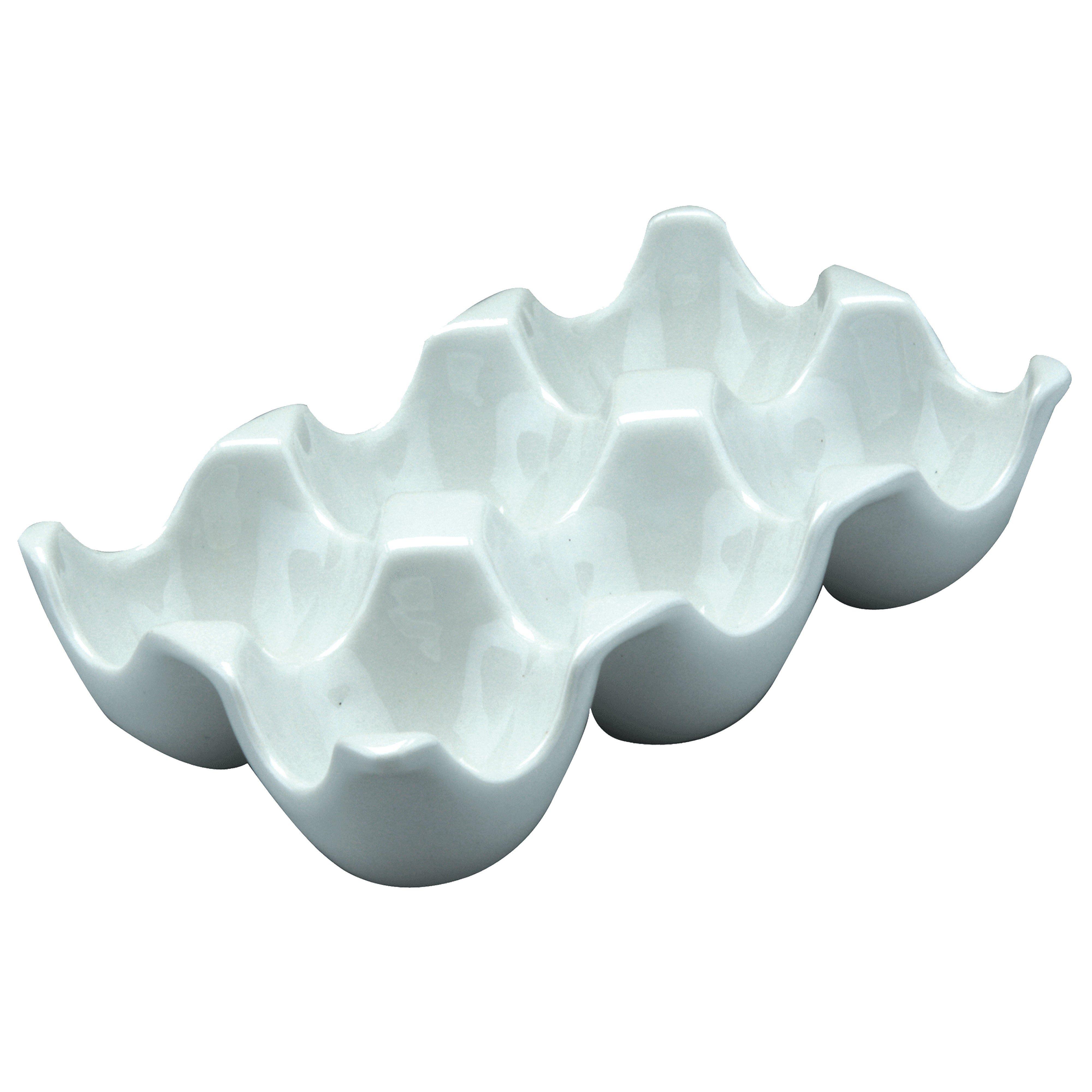 White Ceramic 6 Egg Holder