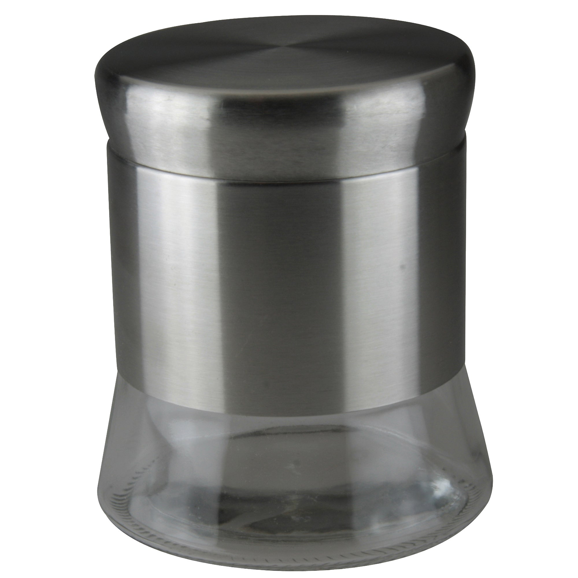Glass Canister with Stainless Steel Lid