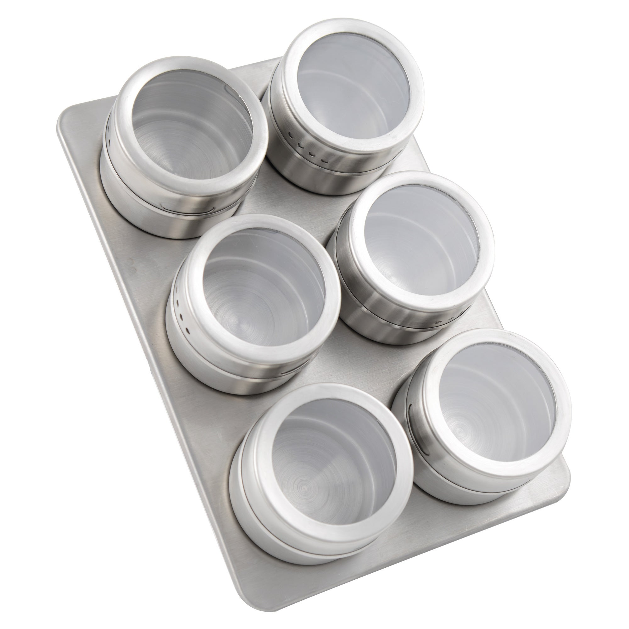 Set of 6 Spice Jars and Magnetic Rack