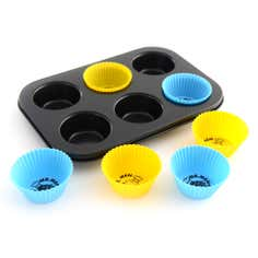 Kids Mr Men 6 Cup Silicone Muffin Set