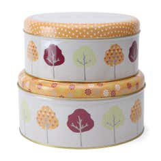 Retro Trees Collection Set of 2 Cake Tins