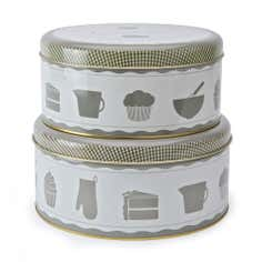 Vintage Kitchen Collection Set of 2 Cake Tins