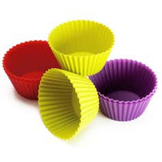 Set of 6 Large Silicone Cake Moulds