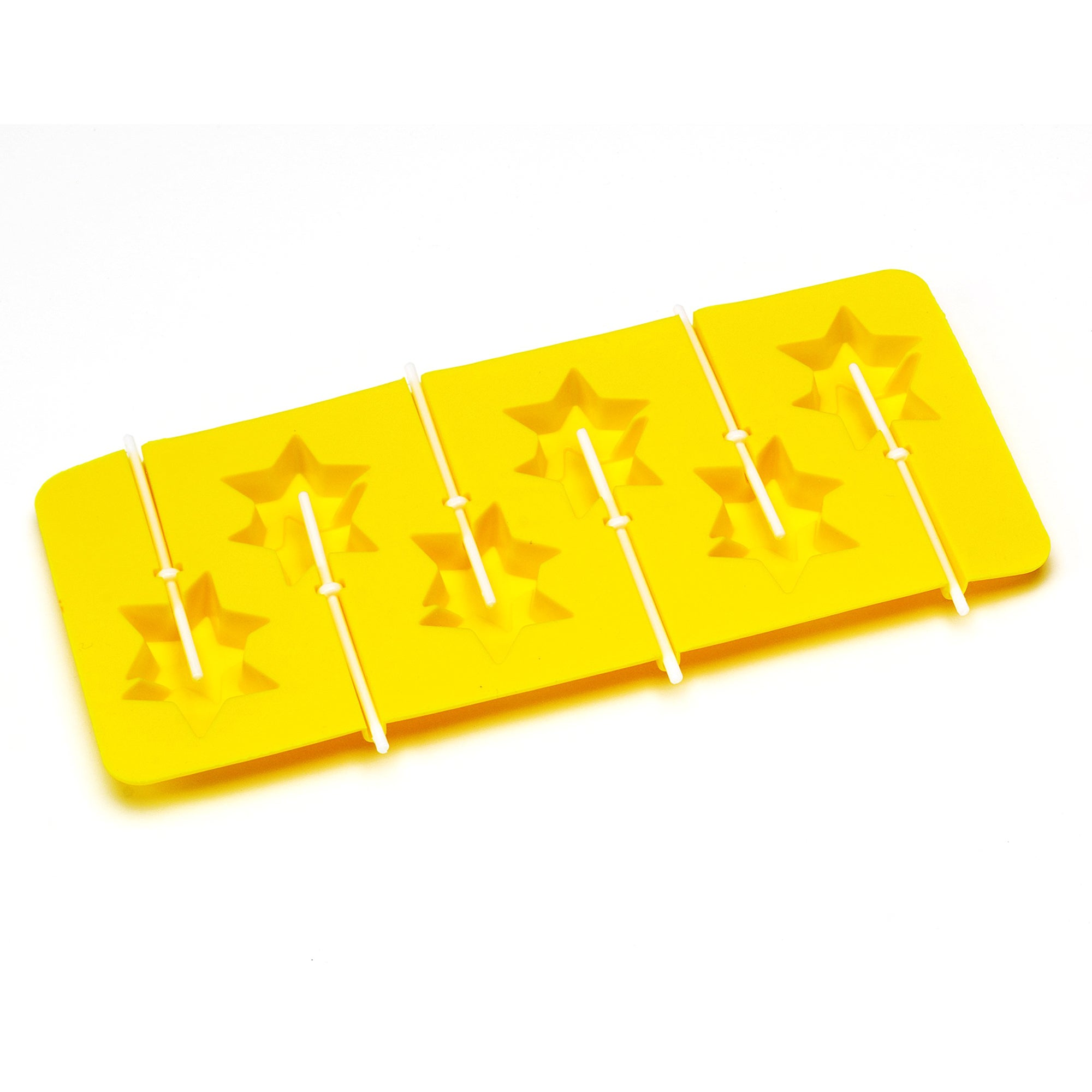 Kids 6 Cup Stars Lollipop Silicone Mould