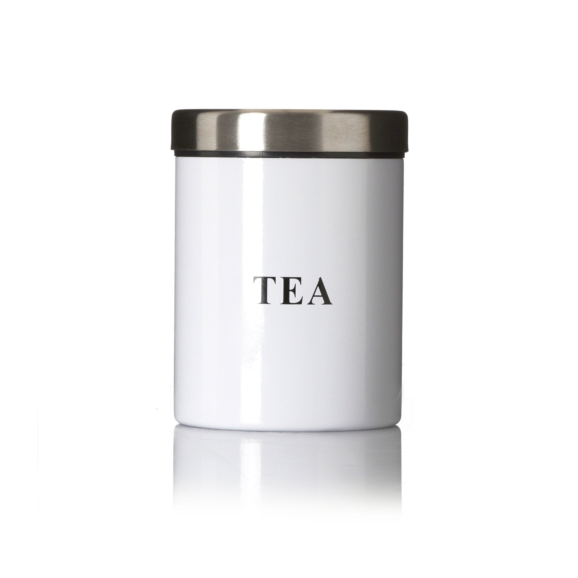 White Spectrum Collection Tea Canister