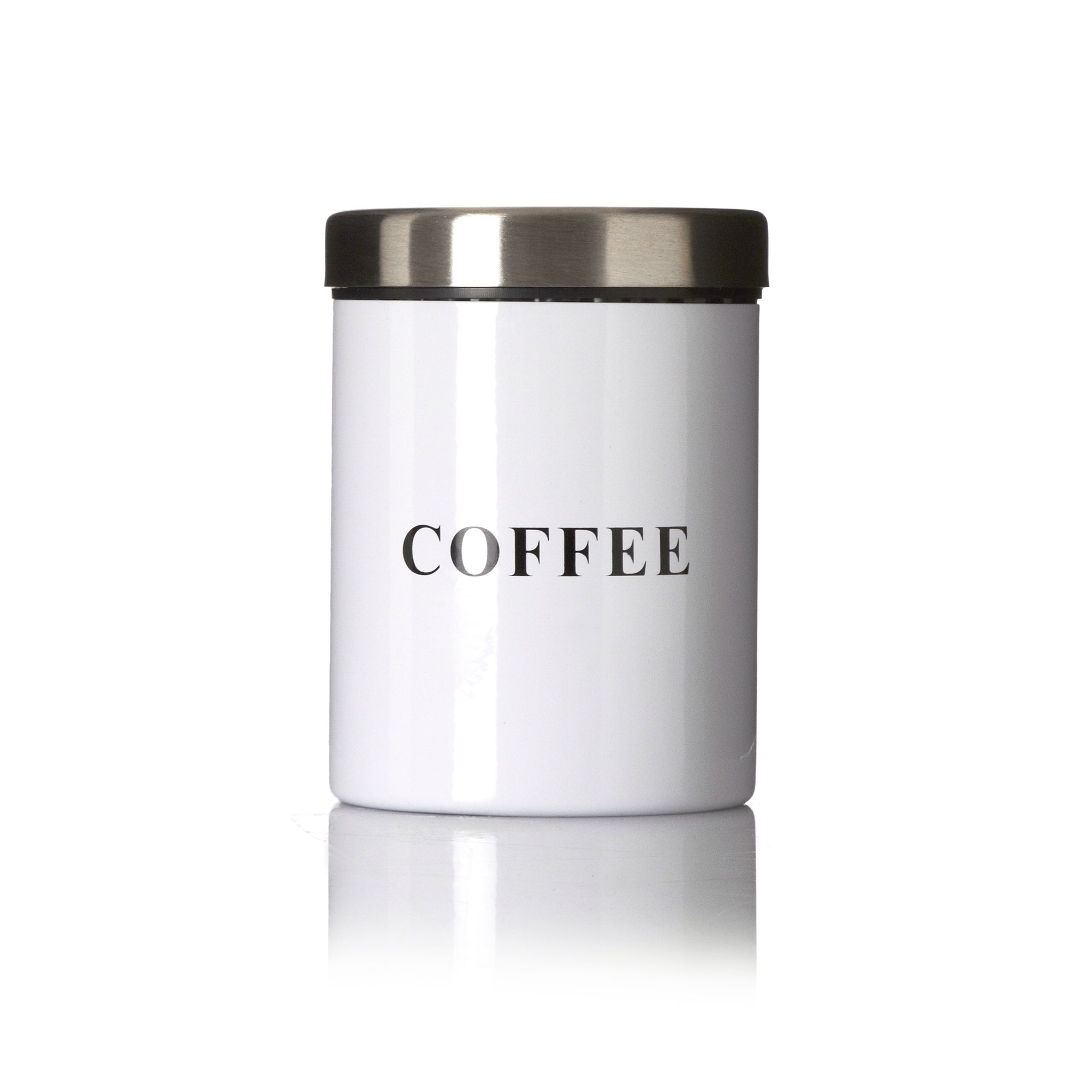 White Spectrum Collection Coffee Canister
