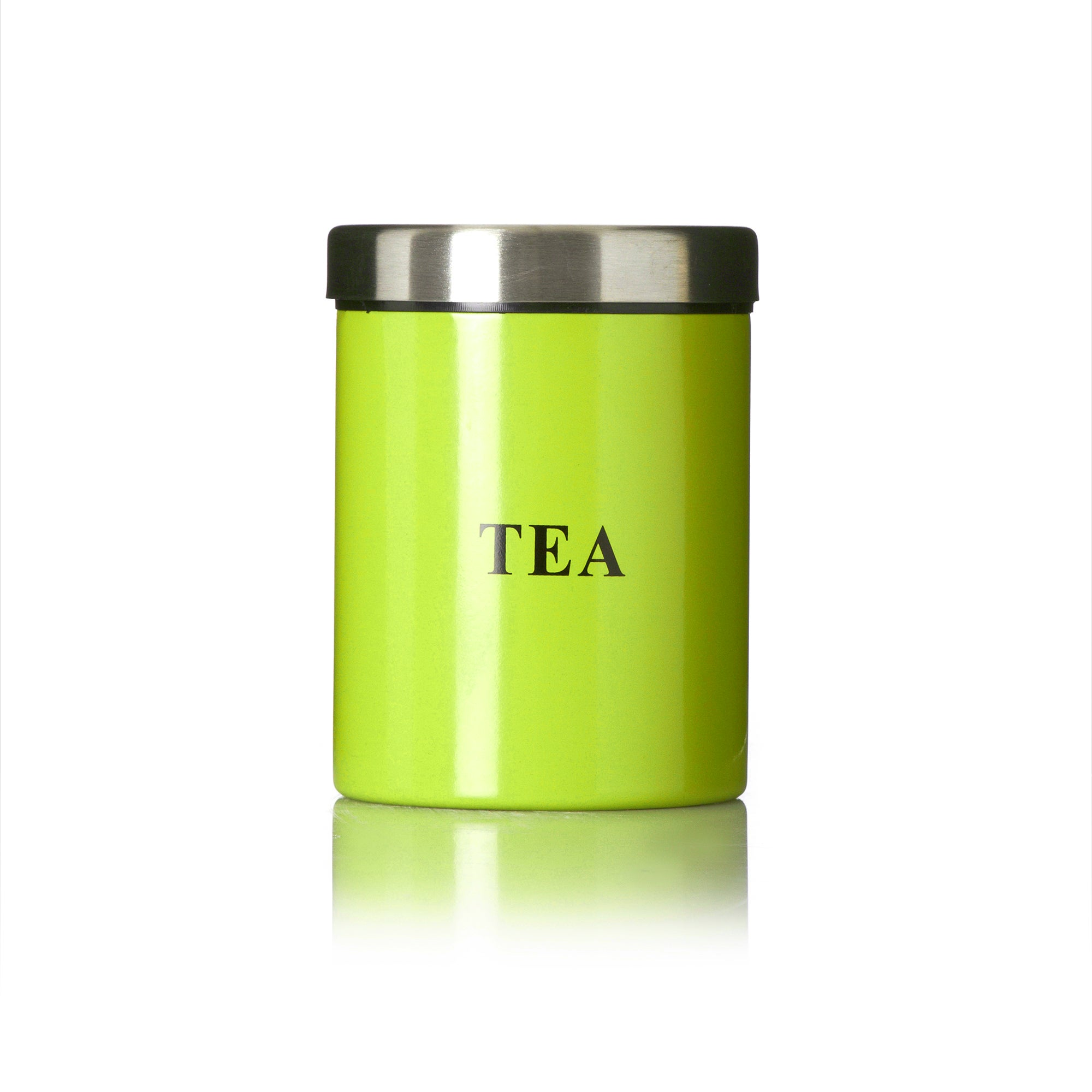 Lime Spectrum Collection Tea Canister