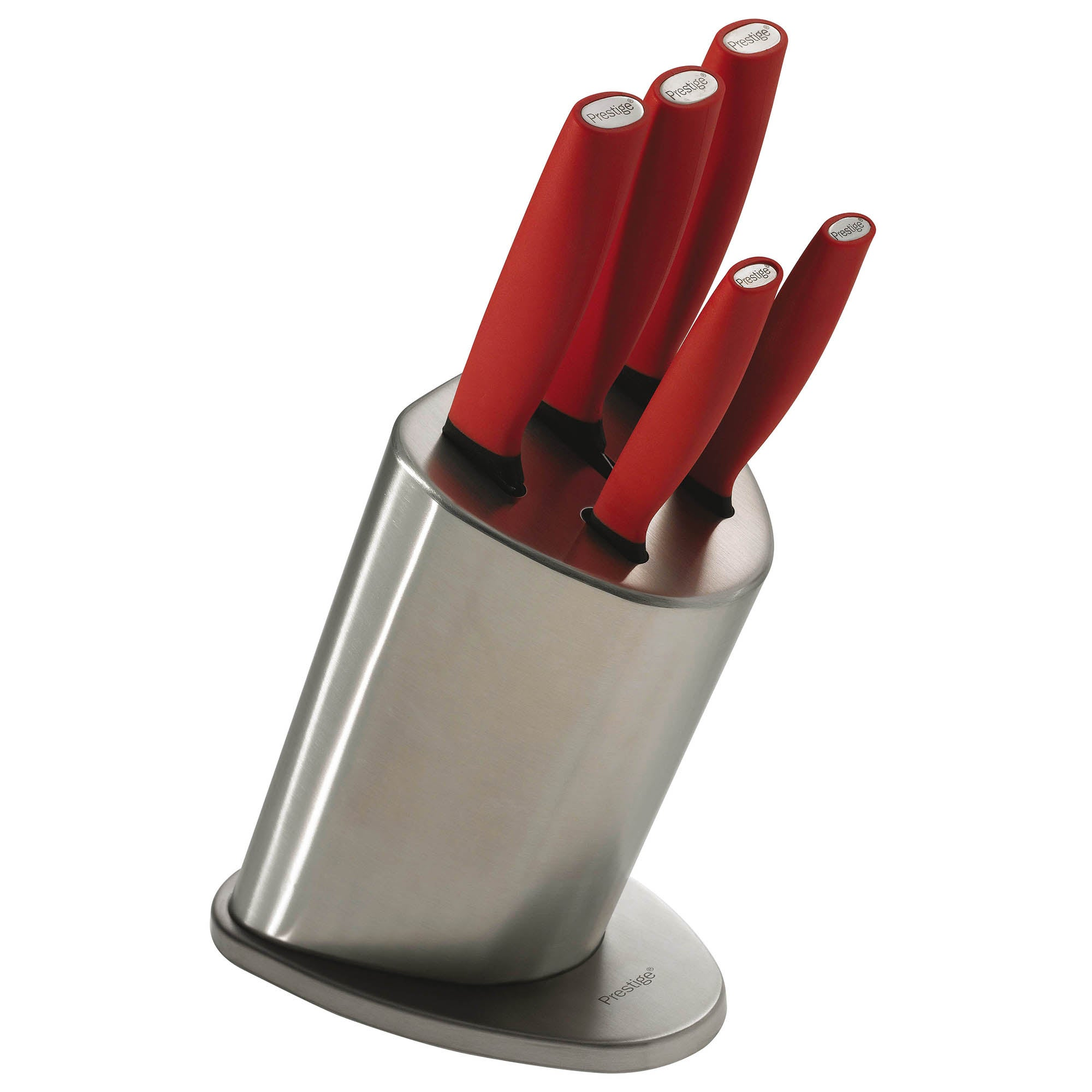 Prestige Create Red 5 Piece Knife Block