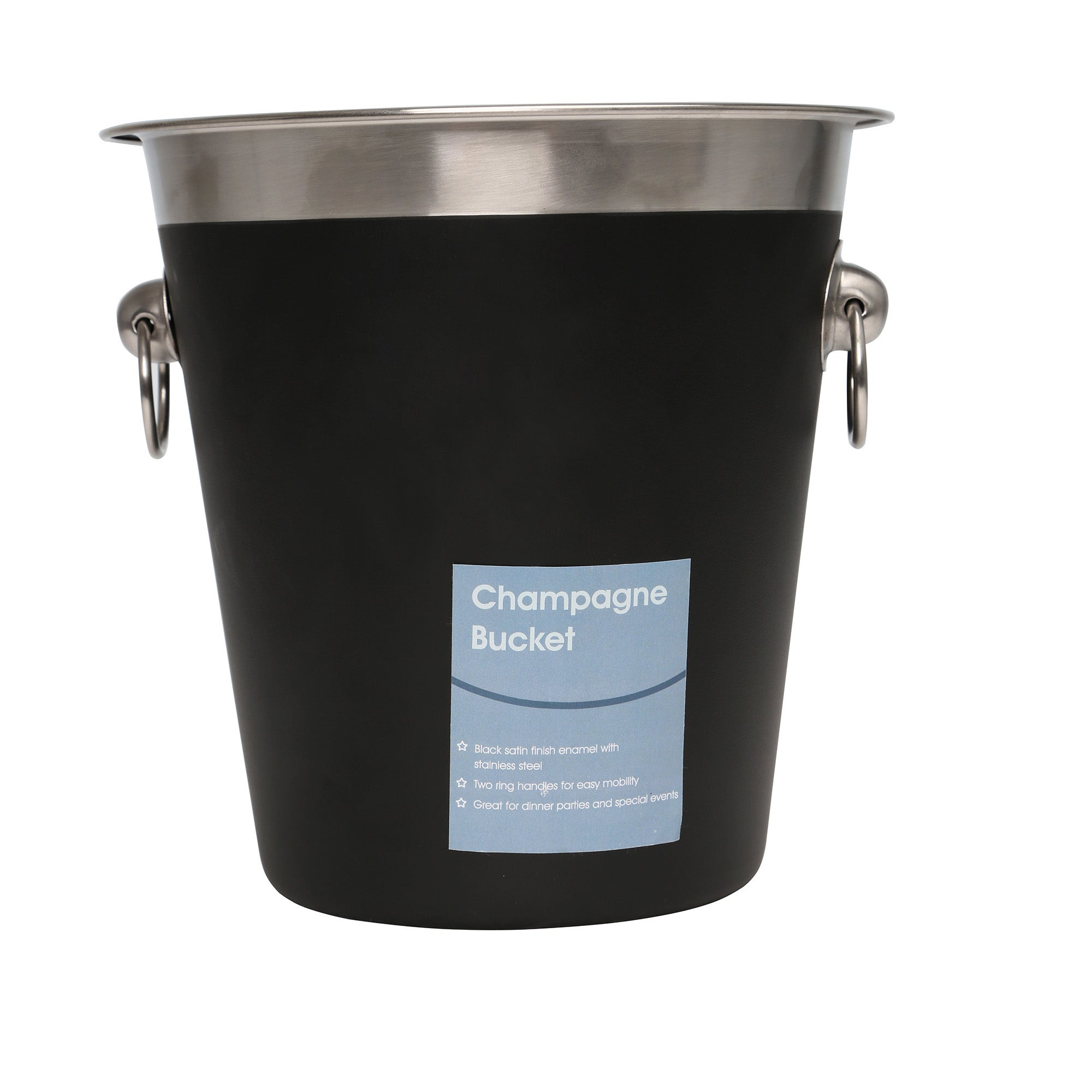 Black Champagne Bucket