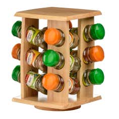 12 Jar Black Spice Rack