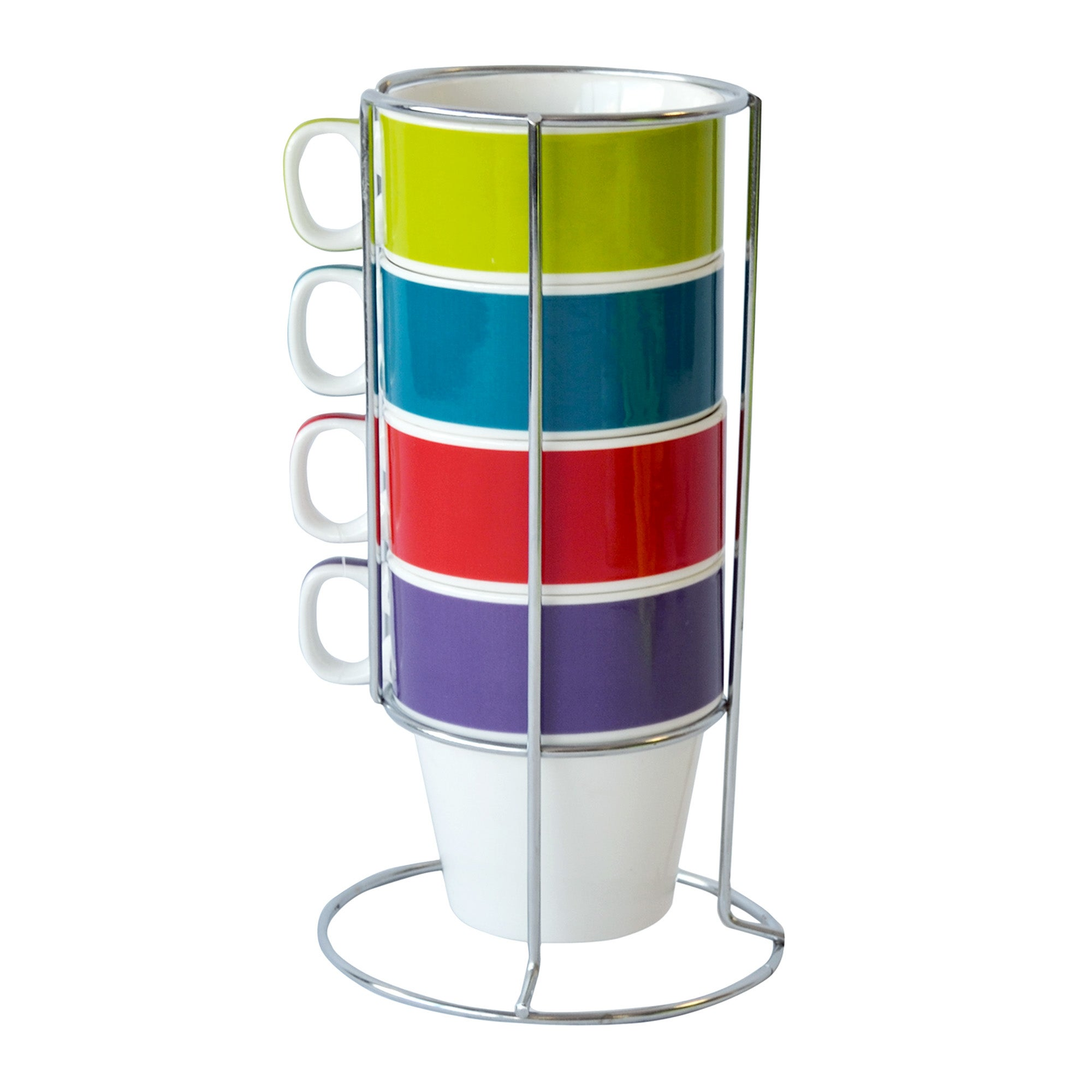 Spectrum Set of Four Stacking Mugs