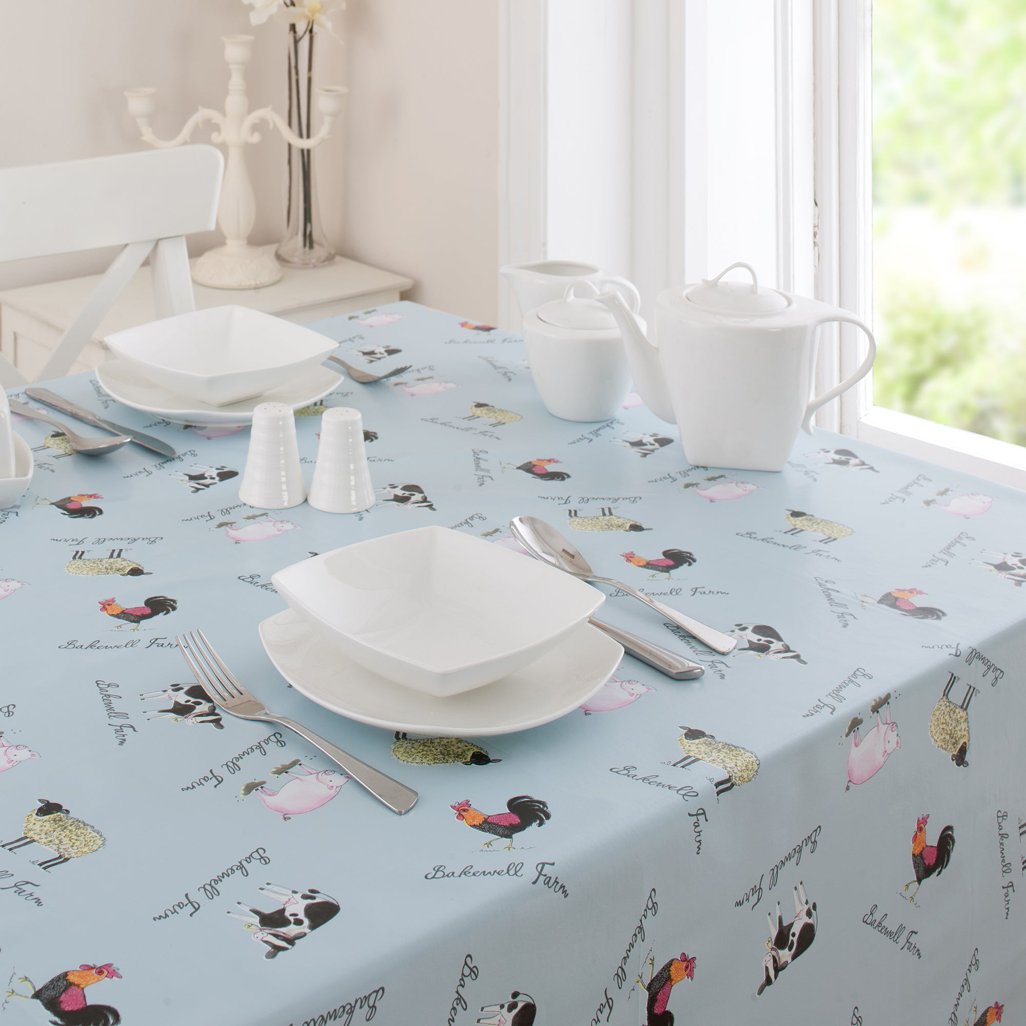 Bakewell Farm Collection Round PVC Tablecloth