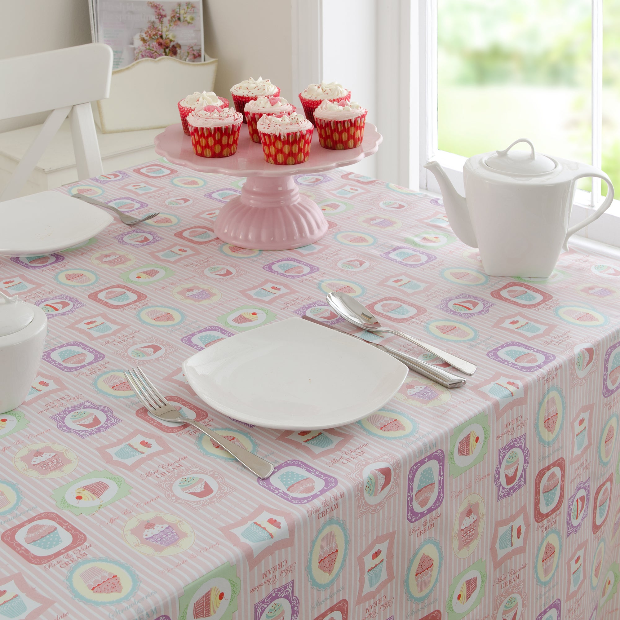 Tea Party Collection PVC Tablecloth